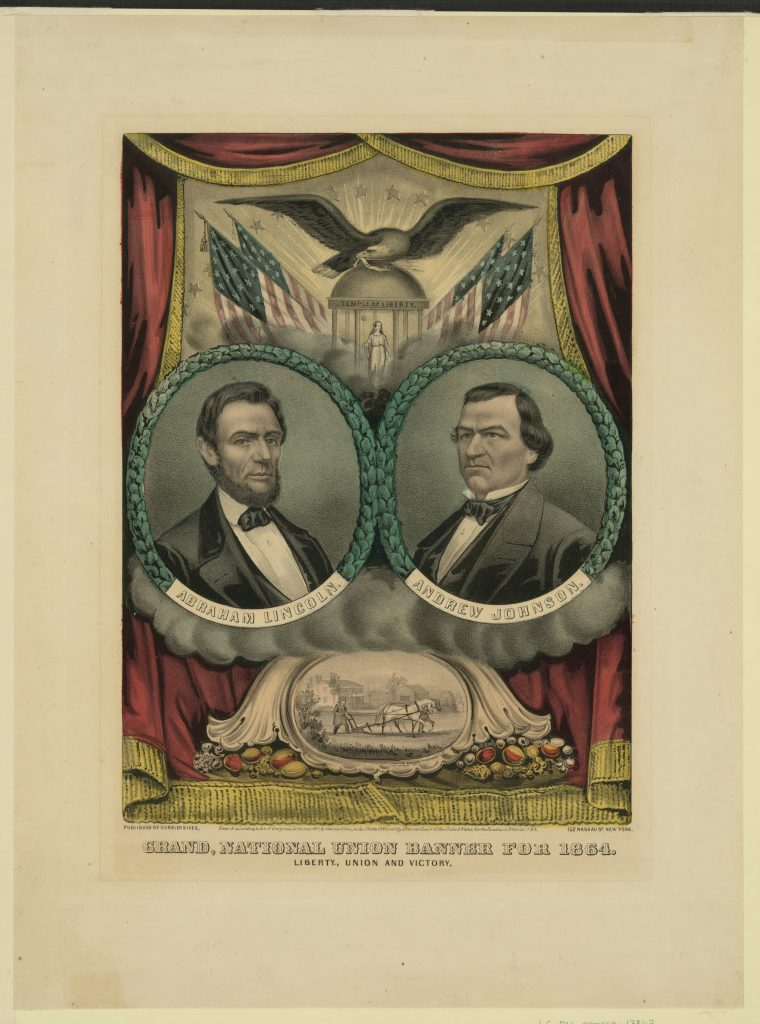 Grand national union banner for 1864. Liberty