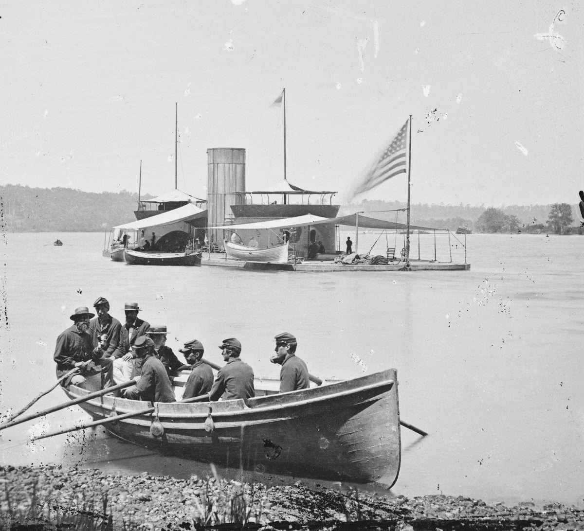 Monitor USS Onondaga on the James River
