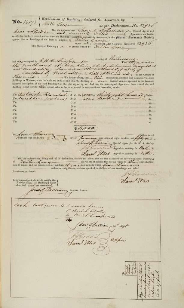 Insurance Appraisal for R. H. Dickinson & Co.
