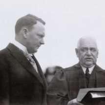 Harry Byrd Taking the Oath of Office