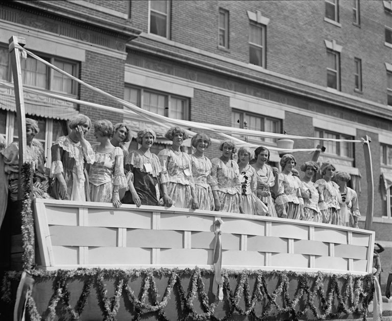 Float in the Shenandoah Apple Blossom Parade