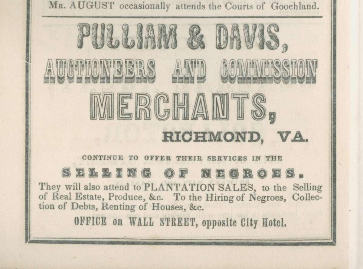 Advertisement for Pulliam & Davis