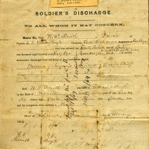 Richmond Howitzer Soldier's Release from Service
