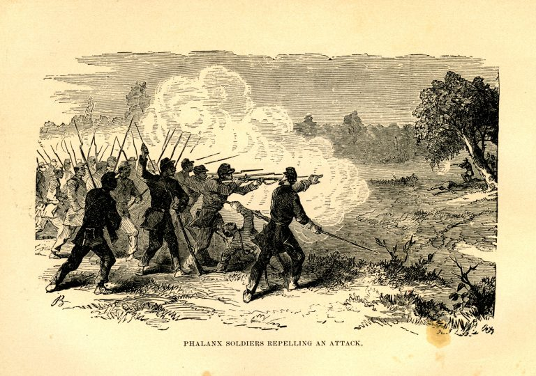 Phalanx Soldiers Repelling an Attack.