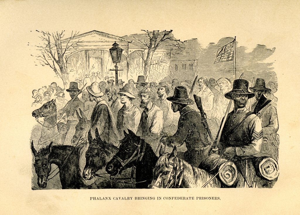 Phalanx Cavalry Bringing in Confederate Prisoners.