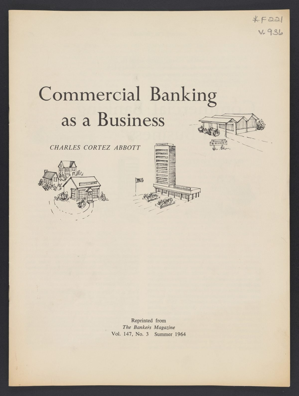 Commercial Banking as a Business