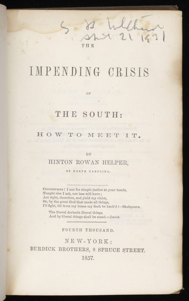 The Impending Crisis of the South: How to Meet It.