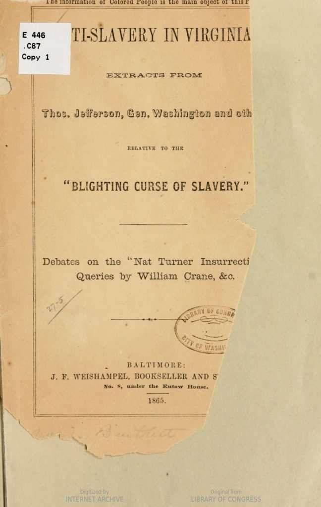 Anti-Slavery in Virginia