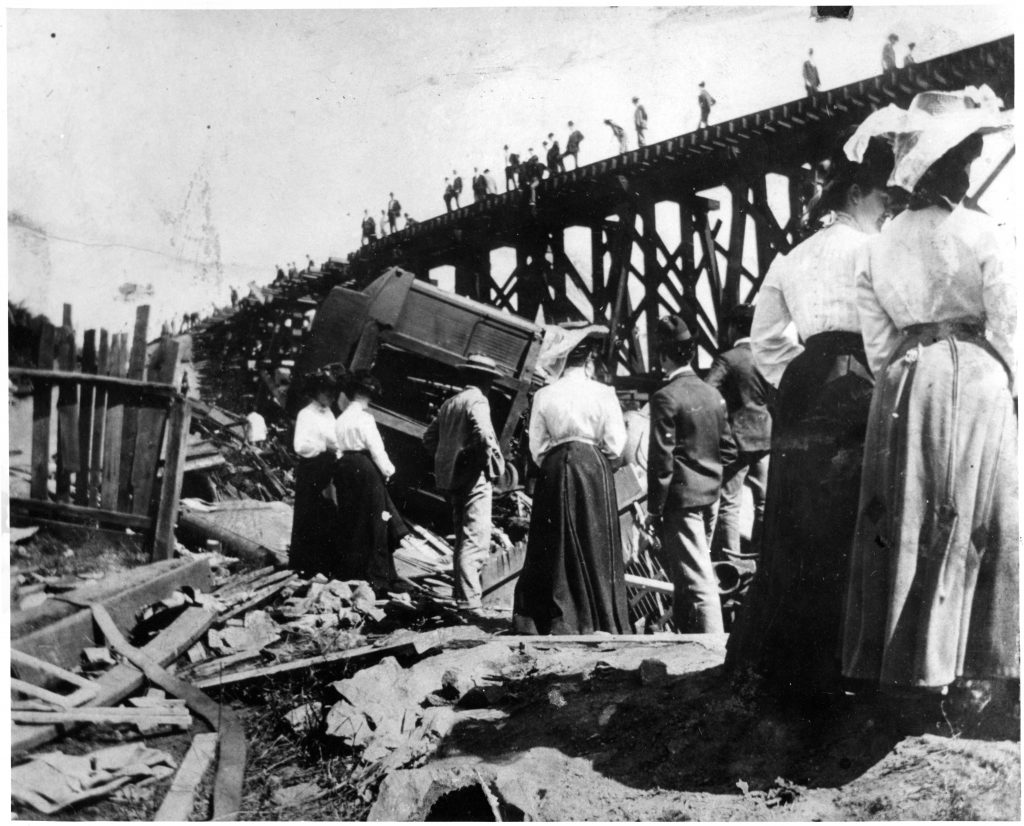 Women Observing the Wreck of the Old 97