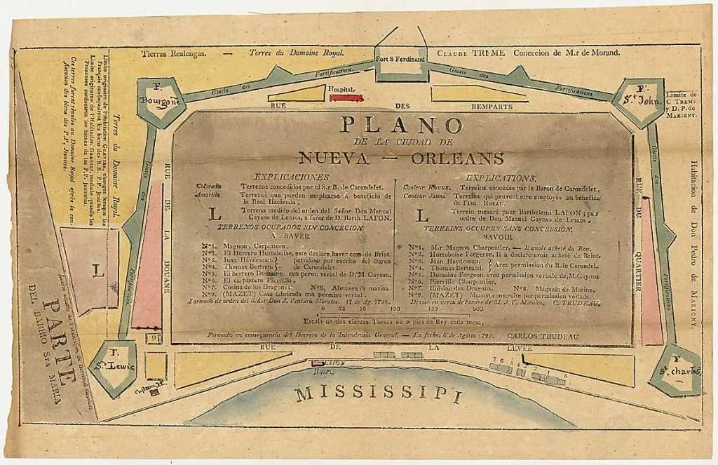 Plano de la Cuidad de Nueva — Orleans