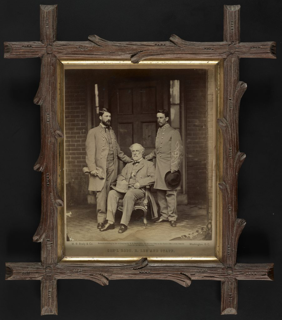 Confederate General Robert E. Lee and Staff