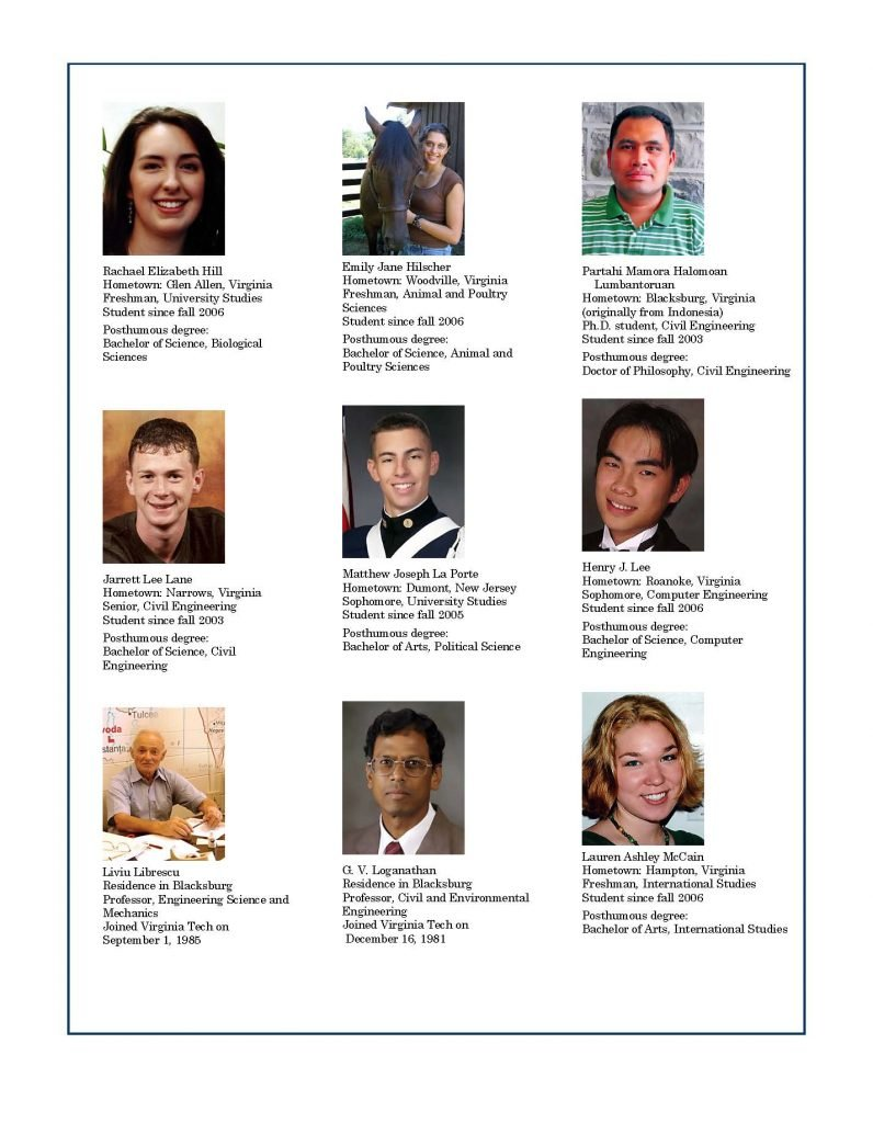 Victims of the Virginia Tech Shootings
