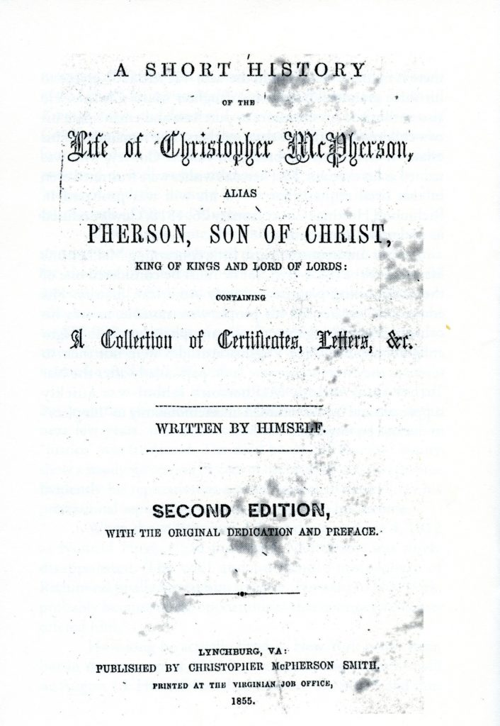 A Short History of the Life of Christopher McPherson