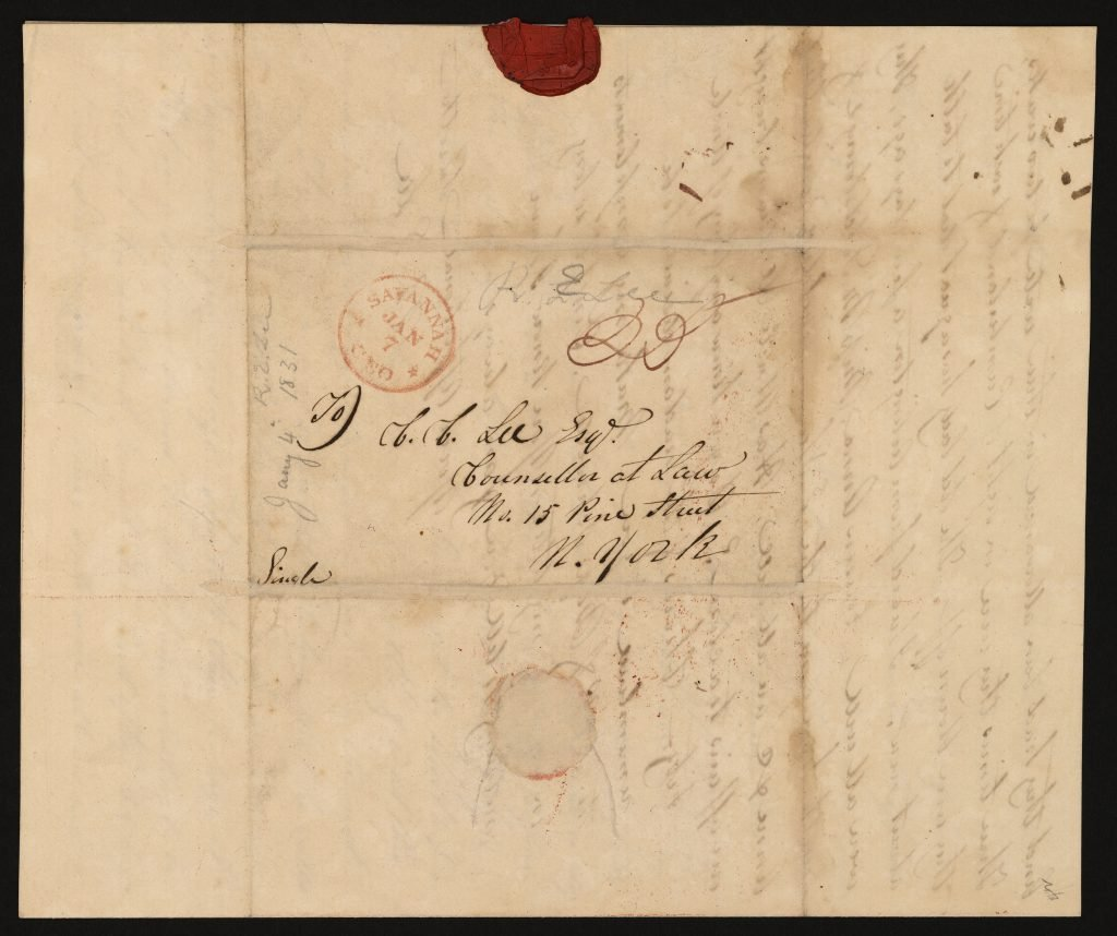 Envelope for Letter from Robert E. Lee to Charles Carter Lee