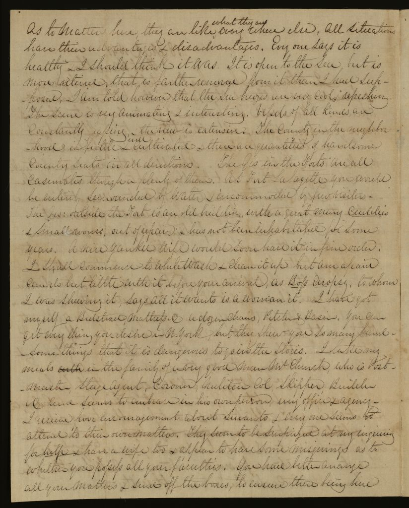 Letter from Robert E. Lee to Mary Randolph Custis Lee