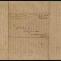 Envelope for Letter from Robert E. Lee to Mary Randolph Custis Lee