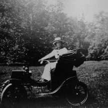 Edith Bolling Galt in Her Car