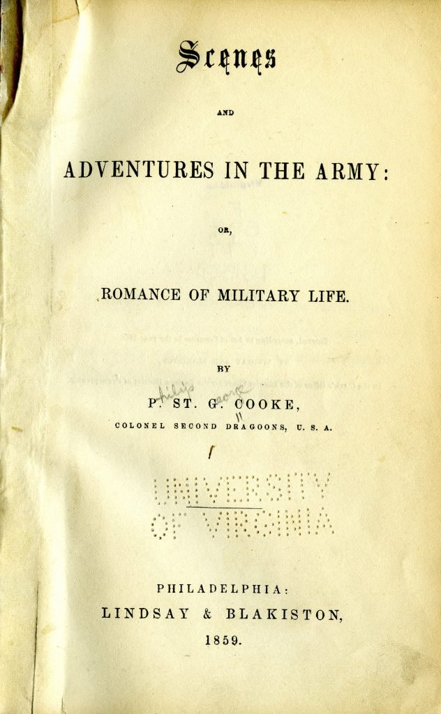Scenes and Adventures in the Army: or