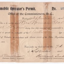 Edith Bolling Galt's Driver's License