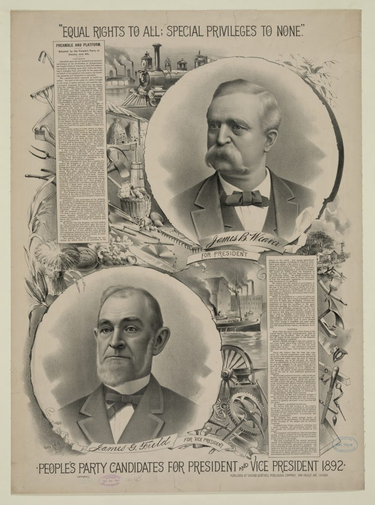 People's Party Candidates 1892