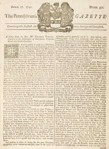 """""""Letter to the Inhabitants of Maryland, Virginia, North and South Carolina"""" (1740)"""