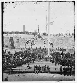 Flag-Raising Ceremony at Fort Sumter