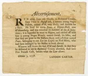 Runaway Slaves and Servants in Colonial Virginia