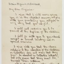 Letter from Leon Bazile to Virginia Bowcock (January 25