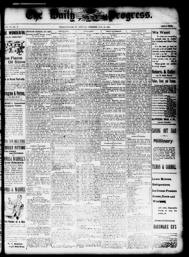 Charlottesville Daily Progress (July 16