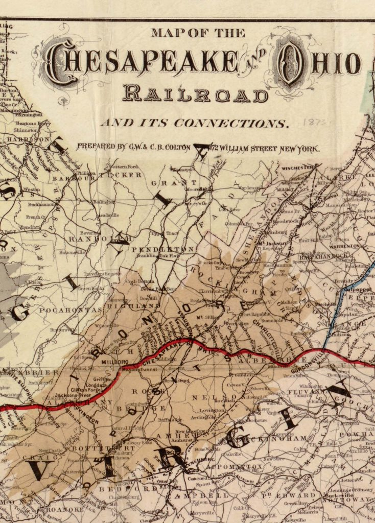 Chesapeake and Ohio Railroad in Western Virginia