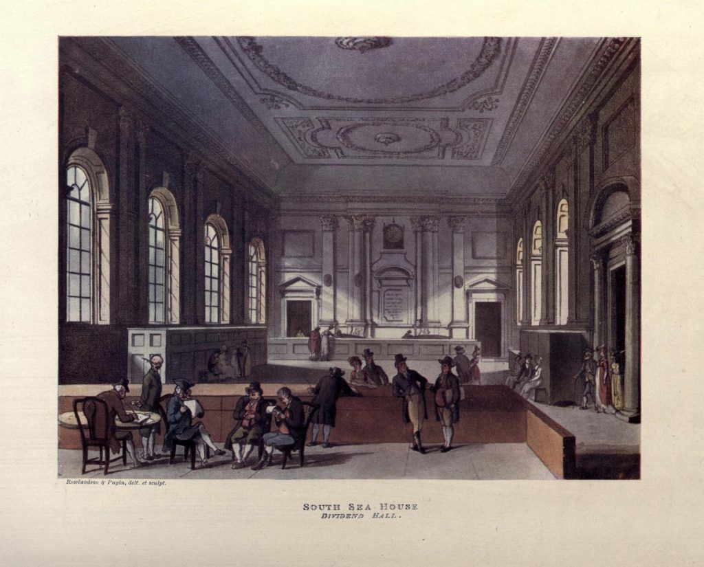 South Sea House Dividend Hall.