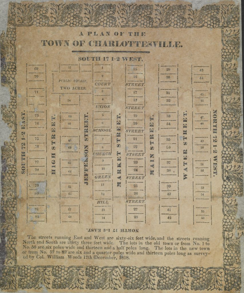 A Plan of the Town of Charlottesville