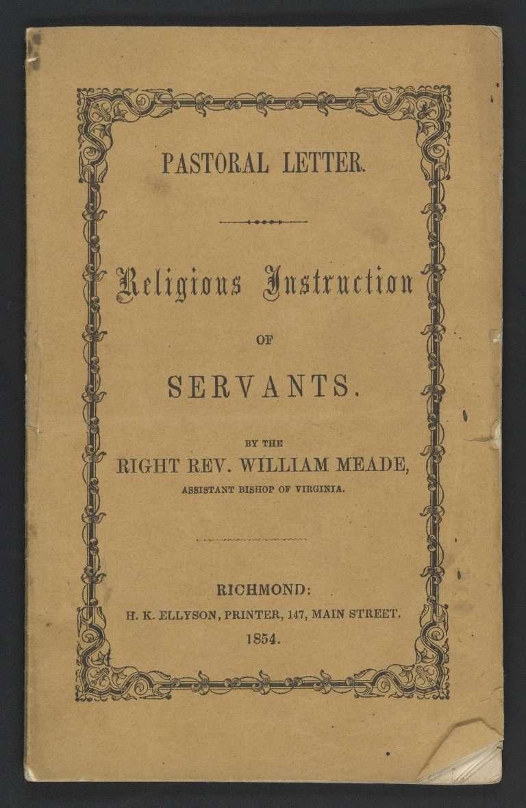 Pastoral Letter.