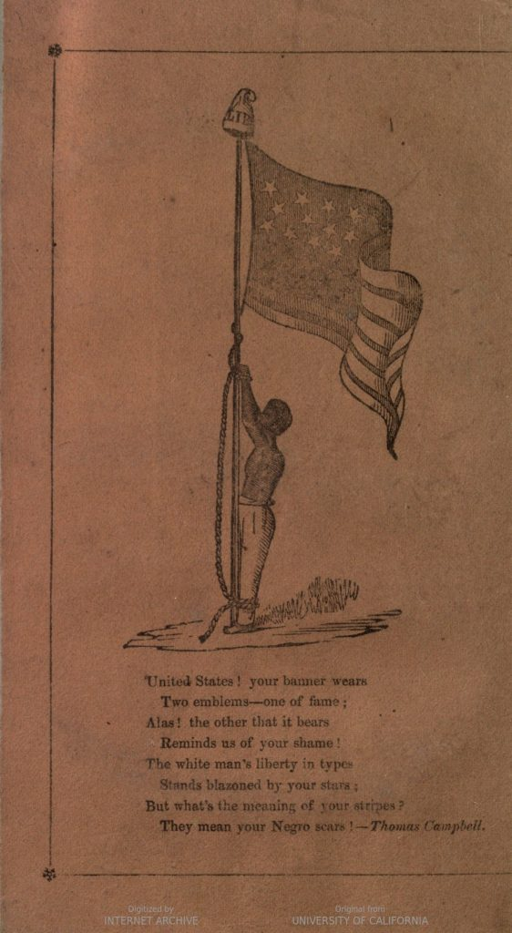 Back Cover of William Wells Brown's Slave Narrative