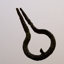 Iron mouth harp used by an enslavedf person at Montpelier