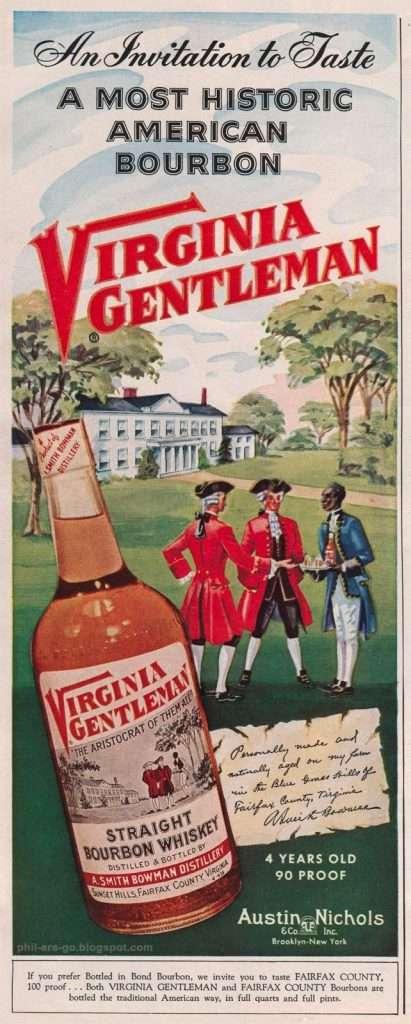 Advertisement for Virginia Gentleman Bourbon