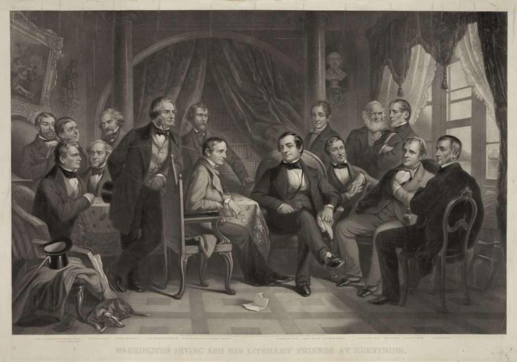 Washington Irving and His Literary Friends at Sunnyside.