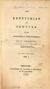 Kentuckian in New-York, The (1834)