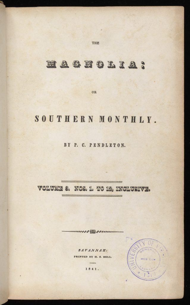 The Magnolia: or Southern Monthly