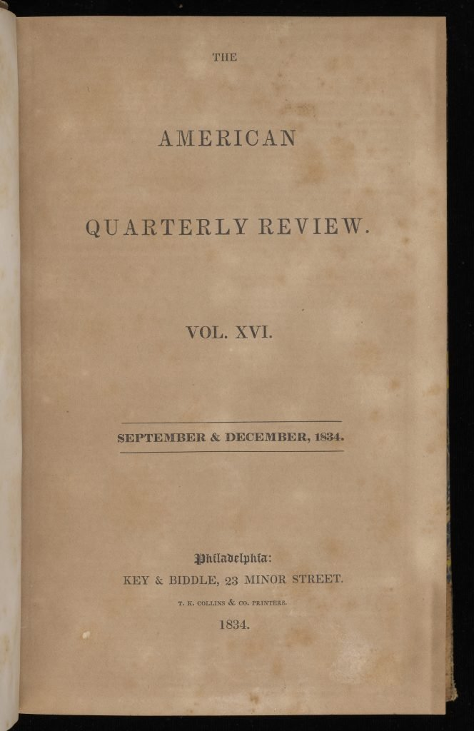 The American Quarterly Review.