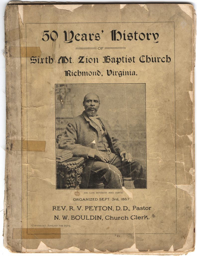 50 Years' History of Sixth Mt. Zion Baptist Church