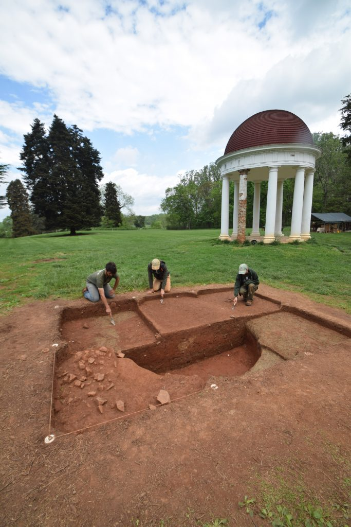 Excavations Near Neoclassical Temple at Montpelier