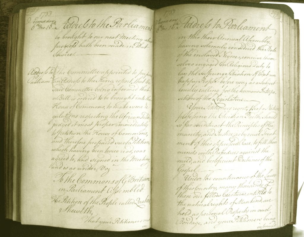 Quakers' Petition Concerning Slavery