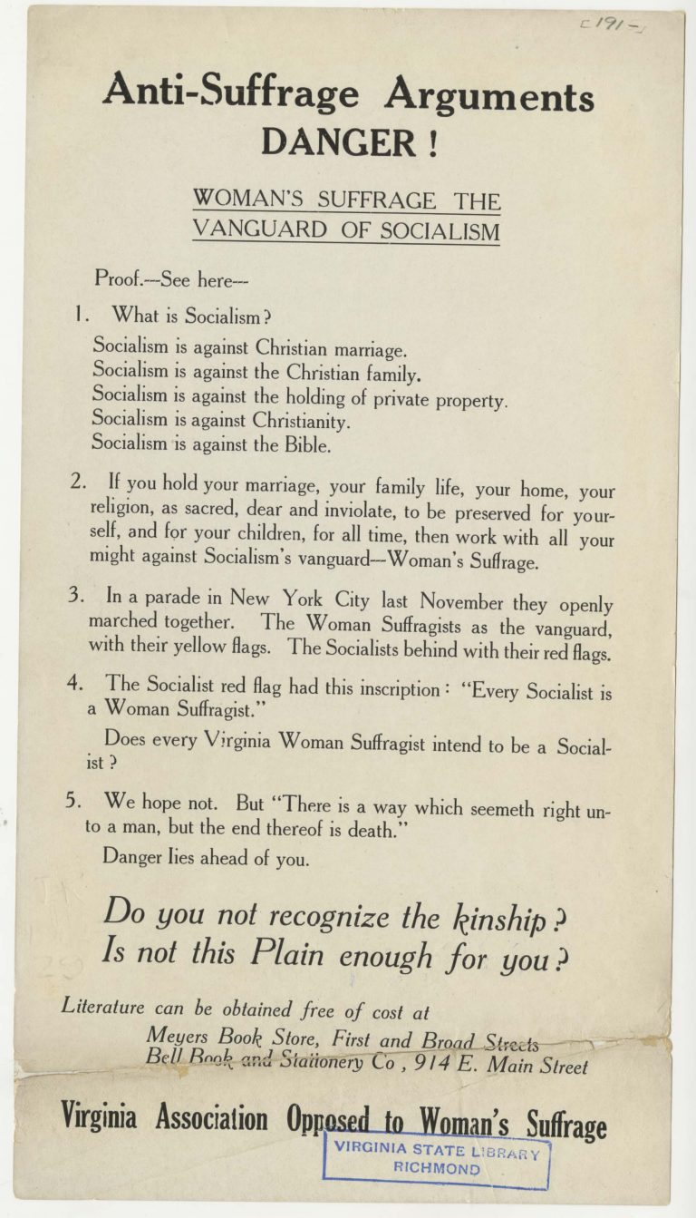 Anti-Suffrage Arguments