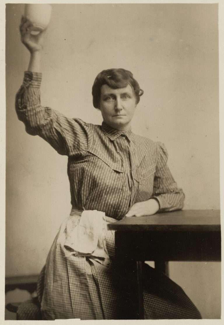 Pauline Adams in Prison Garb