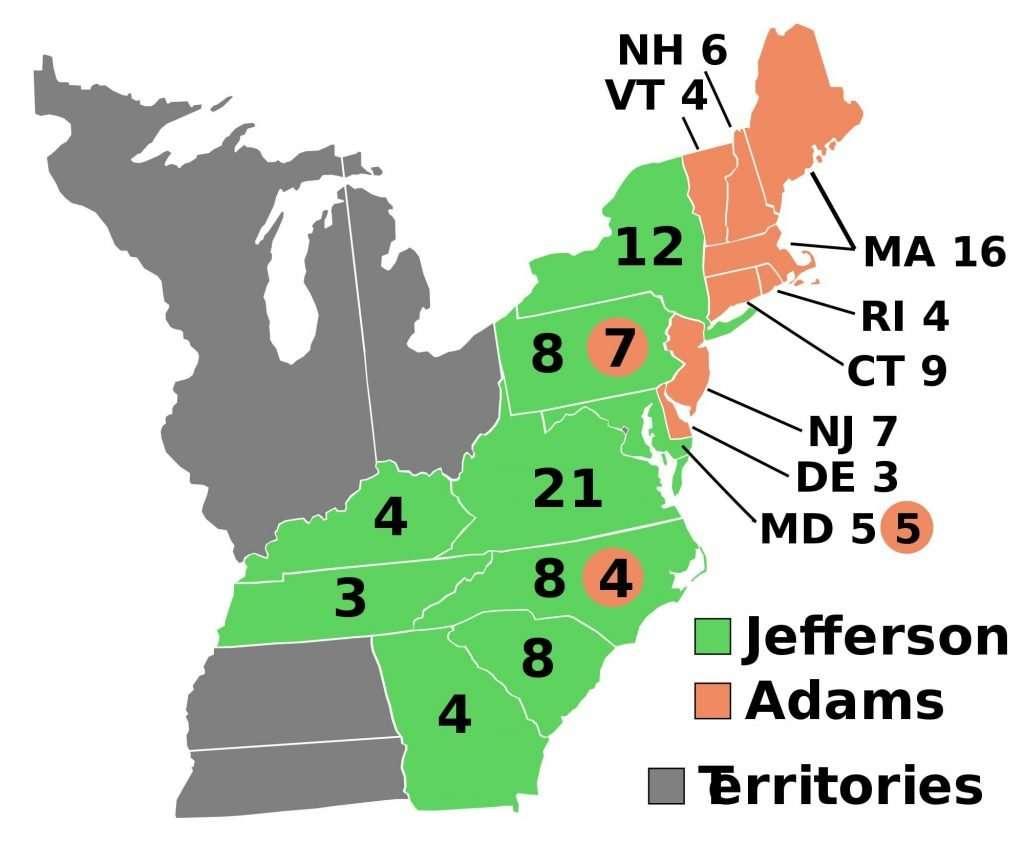 Electoral College Results 1800