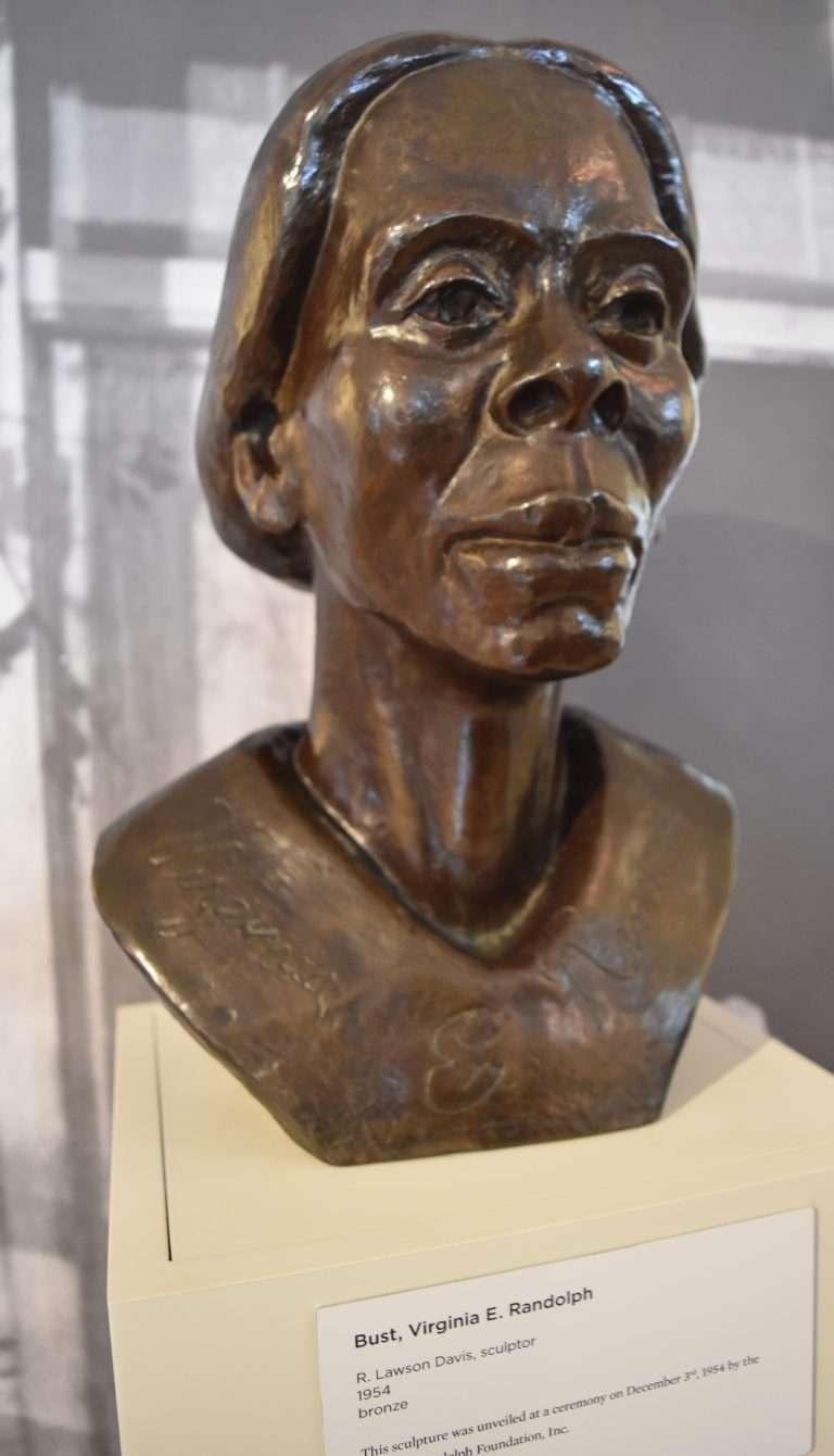 Bust of Virginia E. Randolph