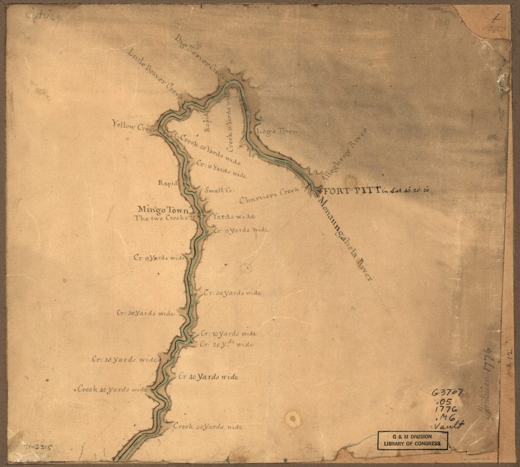 Map of the Ohio River from Fort Pitt