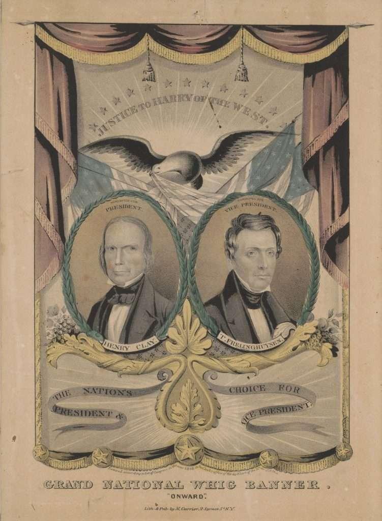 "Grand National Whig Banner. ""Onward."""