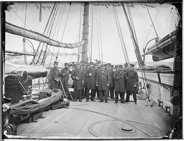 Union Naval Officers After the Battle of Cherbourg